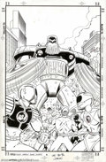 Original Comic Art:Covers, Ron Lim and Mark McKenna - Original Cover Art for Mighty Morphin'Power Rangers #2 (Marvel, 1995). The Mighty Morphin' Power...