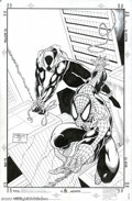 Original Comic Art:Sketches, Ron Lim and Joe Rubinstein - Original Art for Spider-Man Unlimited #8 (Marvel, 1995). Spider-Man and the Scarlet Spider swin...