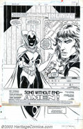 Original Comic Art:Splash Pages, Todd McFarlane - Original Art for Infinity Inc. #15, page 1 (DC,1985). Obsidian is feeling argumentative in this splash pag...