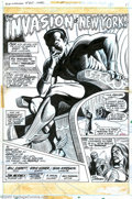 Original Comic Art:Splash Pages, Jim Mooney and Sam Kweskin - Original Art for Sub-Mariner #60, page1 (Marvel, 1973). A brooding, errant Sub-Mariner sits up...
