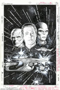 Original Comic Art:Covers, Jerome Moore - Original Cover Art for Star Trek: the NextGeneration #7 (DC, 1990). On a famine relief mission, Enterprisei...