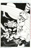Original Comic Art:Splash Pages, Carlos Pacheco - Original Splash Page Art for Thor: The Legend,page 9 (Marvel, 1996). In September 1996, Marvel released ...