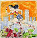 Original Comic Art:Sketches, H. G. Peter - Original Illustration of Wonder Woman (undated). When you look back on comic book history its easy to forget t...