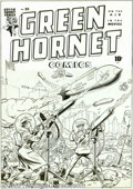 Original Comic Art:Covers, Jerry Robinson - Original Cover Art for Green Hornet #24 (Harvey,1945). As poison death rains from the skies, the Green Hor...