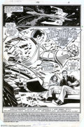 Original Comic Art:Splash Pages, John Romita Jr. and Dan Green - Original Art for The Uncanny X-Men#197, page 1 (Marvel, 1985). Peter Rasputin and his girlf...