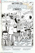 Original Comic Art:Splash Pages, Kurt Schaffenberger and Alfredo Alcala - Original Art for World ofSmallville #4, page 1 (DC, 1988). Written by John Byrne a...