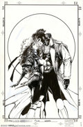 Original Comic Art:Sketches, Bill Sienkiewicz - Original Illustration for X-Men Adventures, Rogue and Gambit (undated). Bill Sienkiewicz brings his artis...