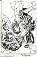 Original Comic Art:Covers, Steve Skroce and Scott Koblish - Original Cover Art for Gambit #10(Marvel, 1999). Two thieves... one all-powerful gem... so...