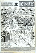 Original Comic Art:Splash Pages, Frank Springer and Vince Colletta - Original Splash Page Art forDazzler #18, page 1 (Marvel, 1982). Here's a day the Fantas...