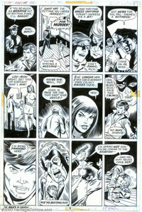 Jim Starlin and Chic Stone - Original Art for Captain Marvel #25, page 8 (Marvel, 1972). Thanos' plot to destroy Captain...
