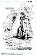 Original Comic Art:Splash Pages, Joe Staton and Mark Farmer - Original Art for the New Guardians #2,page 28 (DC, 1988). El Extraño, a gay brujo from Peru, c...