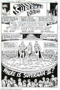 Original Comic Art:Splash Pages, Curt Swan and Joe Staton - Original Splash Page Art for Superman#355, page 23 (DC, 1981). Welcome to the gala ceremony cele...