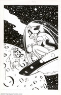 Original Comic Art:Covers, Curt Swan and Frank McLaughlin - Original Cover Art for MightyMouse #2 (Spotlight Comics, 1987). Does Mighty Mouse look a l...