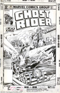 Original Comic Art:Covers, Herb Trimpe and Bob Wiacek - Original Cover Art for Ghost Rider #60(Marvel, 1981). Johnny Blaze is the quintessential leath...