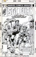 Original Comic Art:Covers, Herb Trimpe - Original Cover Art for Sgt. Fury #154 (Marvel, 1979).This war-torn cover illustration by top hand Herb Trimpe...