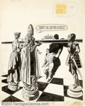 Original Comic Art:Covers, Unknown Artist - Original Cover Art for Baffling Mysteries #26(Ace, 1955). Who would have thought that chess could be this ...