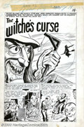 """Original Comic Art:Complete Story, Unknown Artist - Original Art for Weird Mysteries #8, Complete7-page Story, """"The Witche's Curse"""" (Gilmore Publications, 1954)...."""