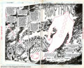 Original Comic Art:Splash Pages, Rick Veitch and Alfredo Alcala - Original Two-Page Splash Art forSwamp Thing #63 (DC, 1987). Rick Veitch is one of many fin...