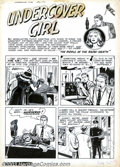 Original Comic Art:Splash Pages, Ogden Whitney - Original Art for Undercover Girl #5, page 7(Magazine Enterprises, 1952). This is a great splash page that i...