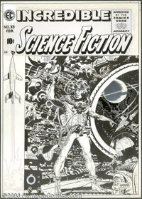 Wally Wood - Original Cover Art for Incredible Science Fiction #33 (EC, 1956). If one were asked to sum up this cover in...