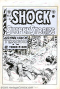 """Original Comic Art:Covers, Wally Wood - Original Cover Art for Shock SuspenStories #3 (EC,1952). A """"Jolting Tale of Tension"""" as Man faces Beast in the..."""