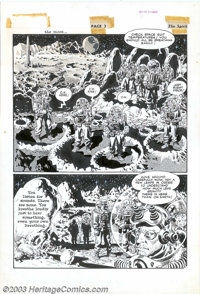 Wally Wood - Original Art for The Spirit Sunday Supplement, page 3 (Will Eisner Productions, 1952). A splashy two panel...