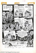 Original Comic Art:Panel Pages, Wally Wood - Original Art for The Spirit Sunday Supplement, page 4(Will Eisner Productions, 1952). The Spirit and his fello...