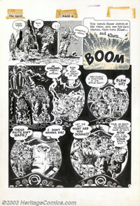 Wally Wood - Original Art for The Spirit Sunday Supplement, page 6 (Will Eisner Productions, 1952). The situation on the...