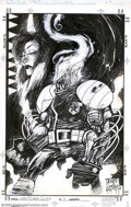Original Comic Art:Covers, Ashley Wood and Jim Daly - Original Cover Art for Ghost Rider 2099A. D. #16 (Marvel, 1995). Ashley Wood applies his hyper-k...