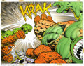 "Original Comic Art:Splash Pages, Berni Wrightson - Original Splash Page Art for The Incredible Hulkand the Thing - ""The Big Change,"" pages 56 and 57 (Marvel, ..."