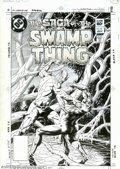 Original Comic Art:Covers, Tom Yeates - Original Cover Art for The Saga of the Swamp Thing #15(DC, 1983). It's Swamp Thing vs. Nathaniel Broder in his...