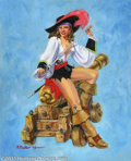 """Original Comic Art:Paintings, Richard Becker - Original Art Painting for Tease #5 """"Gunner's Mate"""" (Pure Imagination, 1998). This is a large recreation of ..."""