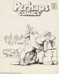 Original Comic Art:Sketches, Robert Crumb - Original Sketches (undated). Here is a great two-sided piece from one of Crumb's lined books that carries the...