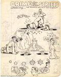 Original Comic Art:Sketches, Robert Crumb - Original Sketches (undated). This is a double-sided piece from one of Crumb's many sketchbooks featuring sexy...