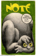 Original Comic Art:Sketches, Robert Crumb - Original Sketches (undated). This is the cover to one of Crumb's letters to his friends, probably Marty Pahl...