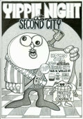 """Original Comic Art:Covers, Skip Williamson - Original Poster Art, """"Yippie Night at SecondCity"""" (1969). Here is the original art for the poster used to..."""