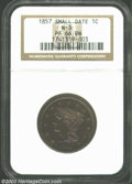 Proof Large Cents: , 1857 PR 66 Brown NGC. ...