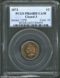 Proof Indian Cents: , 1873 Closed 3 PR 64 Cameo PCGS. ...