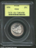 Seated Quarters: , 1856 25C MS62 PCGS. This pleasing Seated Liberty quarter ...