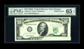 Error Notes:Foldovers, Fr. 2011-G $10 1950A Federal Reserve Note. PMG Gem Uncirculated 65EPQ.. This is a visually exciting error which happened pr...