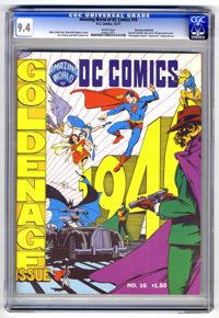 Amazing World of DC Comics #16 (DC, 1977) CGC NM 9.4 White pages. Special Golden Age issue. Wraparound cover by Marshall...