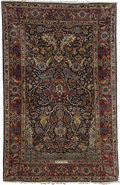 Rugs & Textiles:Carpets, A Keshan Rug. Persia. Circa 1920. Wool. 79.5 inches x 51.2 inches.Woven with Manchester wool and signed: Safarzadeh....