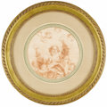 Fine Art - Painting, European:Antique  (Pre 1900), An 18th Century Red Chalk Drawing. Unknown, Italian. 18th Century.Red chalk on paper. 10.25 inches diameter (unframed). ...