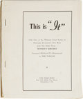 "Books:First Editions, Theodore Sturgeon: This is ""It"". (Philadelphia: Prime Press,[1948]), 29 leaves on proof paper, printed on rectos only, ..."
