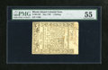 Colonial Notes:Rhode Island, Rhode Island May 1786 1s PMG About Uncirculated 55. Superbembossing and huge margins are found on this Rhode Island noteth...