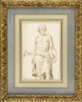 Fine Art - Painting, European:Antique  (Pre 1900), An Italian 18th Century Drawing. Unknown artist, Italian. 18thCentury. Graphite and Ink. 8.5 inches x 5.5 inches (unframe...