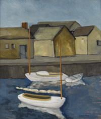 RALSTON CRAWFORD (American 1906-1978) Nantucket, 1932 Oil on canvas 26 x 22 inches (66 x 55.9 cm) Signed lower right