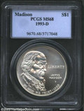 Modern Issues: , 1993-D Bill of Rights Silver Dollar MS68 PCGS. ...