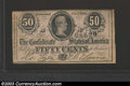 Confederate Notes:1864 Issues, 1864 50 Cents Bust of Jefferson Davis, T-72, Choice CU. This ...