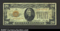 Small Size:Gold Certificates, 1928 $20 Gold Certificate, Fr-2402, Fine-VF. This is a well ...